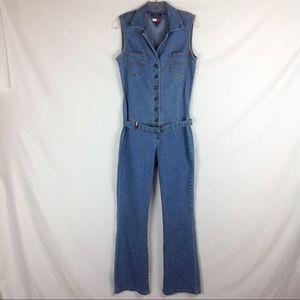 Vintage Tommy Hilfiger Denim Jumpsuit Sz L